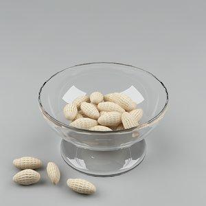 3d nuts peanuts model