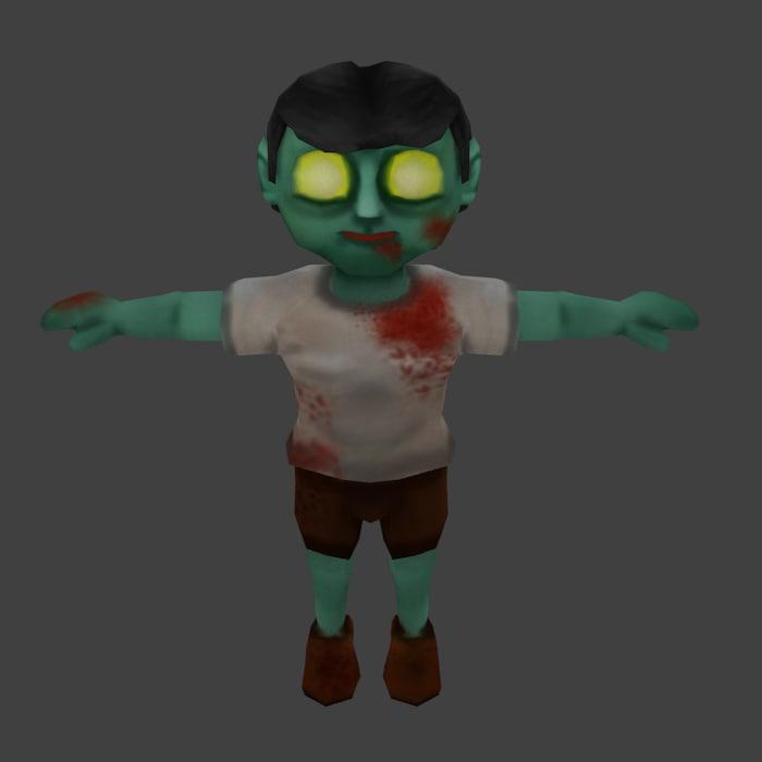 3ds zombie cartoon