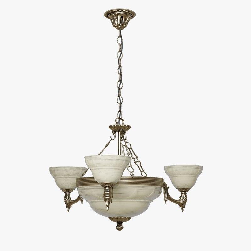 chandelier eglo marbella 3d max