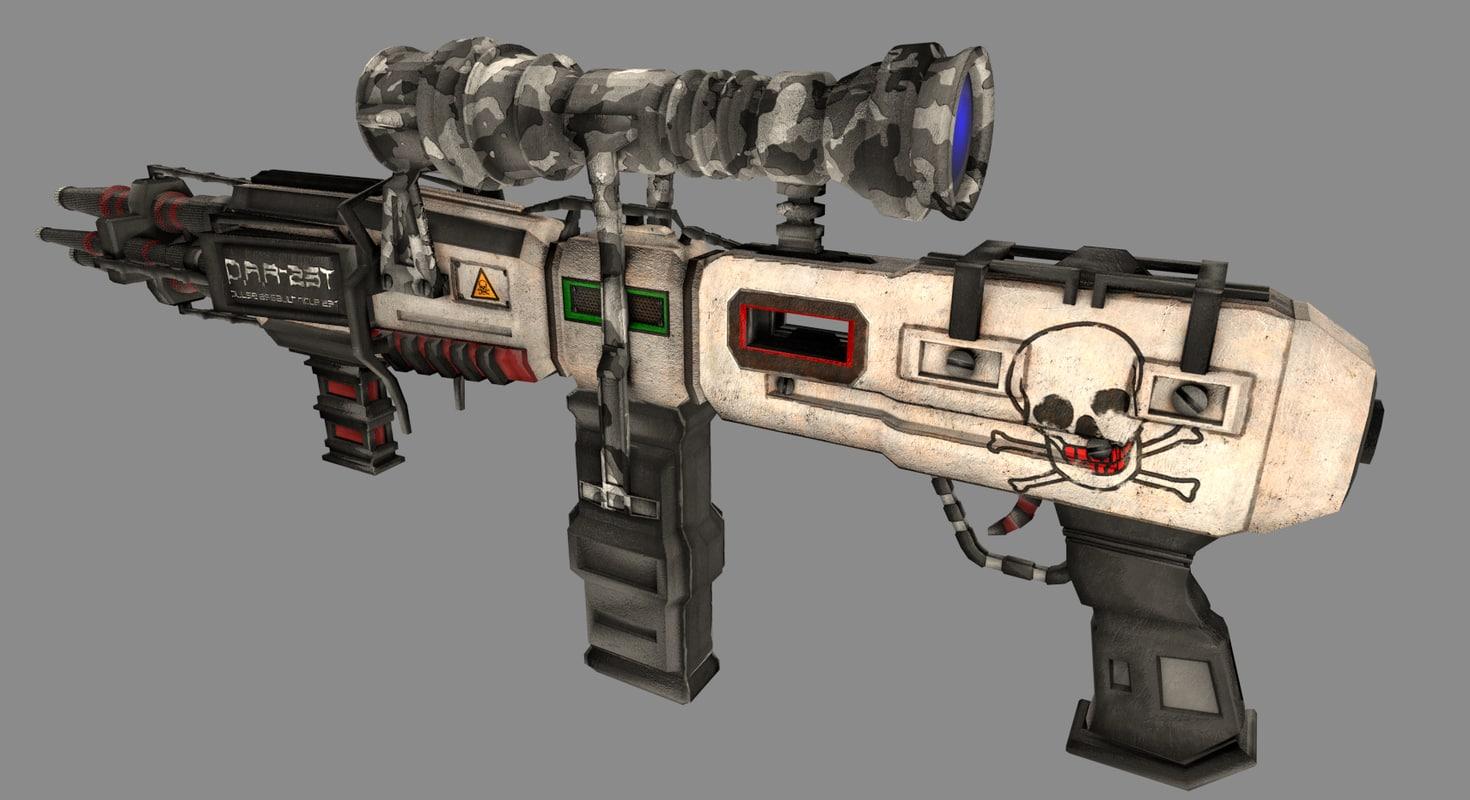 3d model scifi rifle