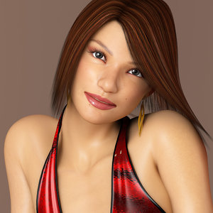 3d model chong lee 6 realistic female