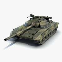 low-poly battle tank t-64bm max