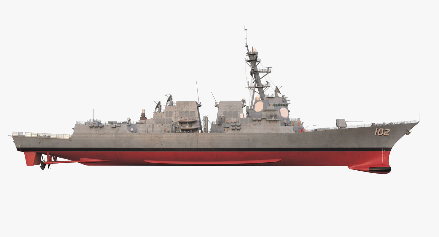 3d model uss sampson