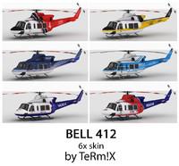 3d bell 412 6x skin model