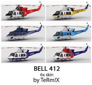 3d model bell 412 6x skin