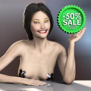 realistic nude female mei 3d model