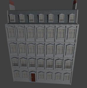 3d old european building