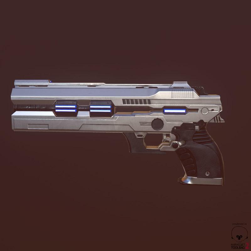 3d real-time pistol model