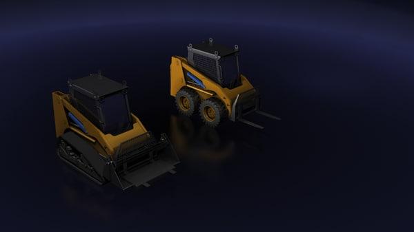 mini excavator loader max