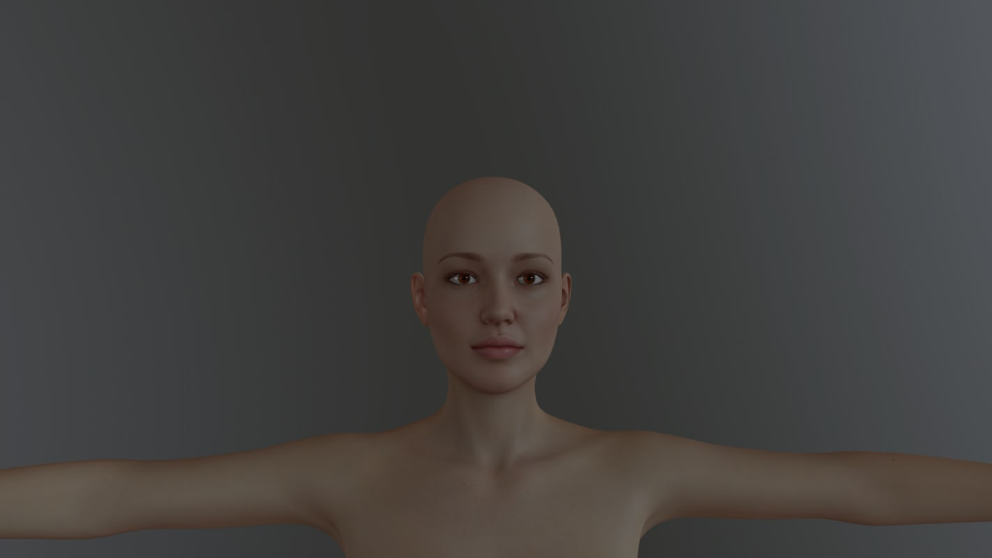 woman female human c4d