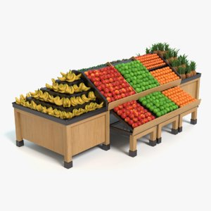 3d model produce display