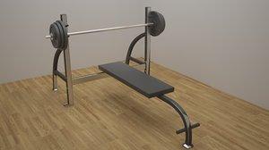 flat bench 3d model