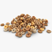 3d model realistic cheerios plain pose