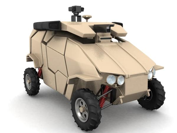 guardium vehicle ugv 3d model