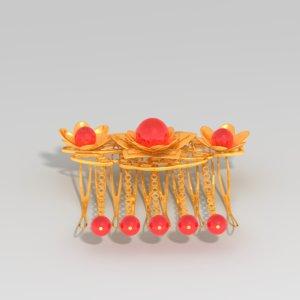 jewelry gold 3d fbx
