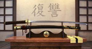 3d max samurai katana