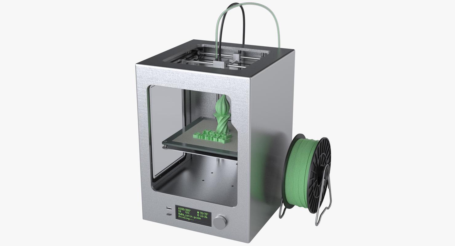 photoreal fdm printer 3d max