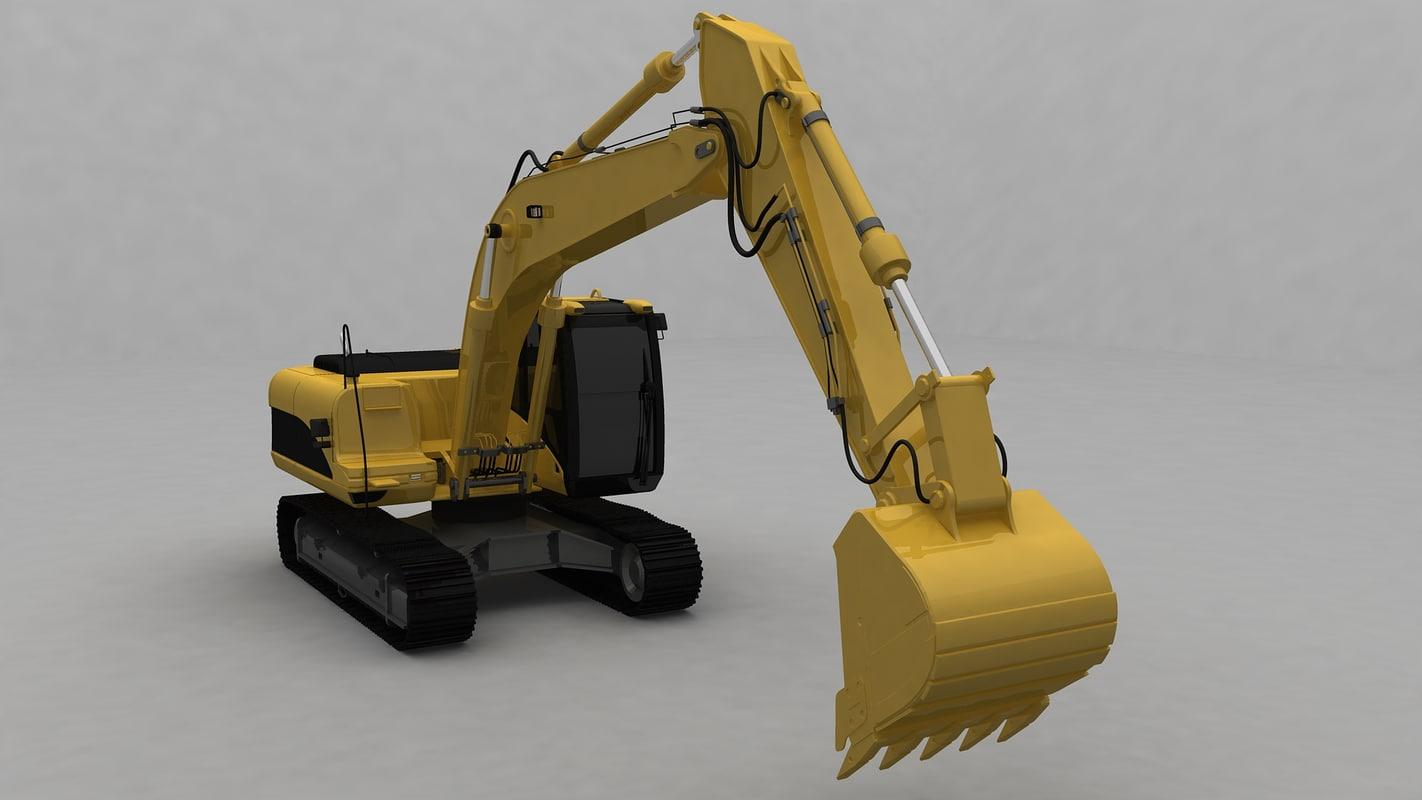 generic excavator 3d model