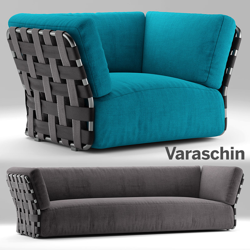 varaschin sofa armchair 3d model