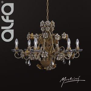 3d mechini l295 6 chandelier model