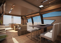 3d ferretti 720 yacht interior