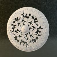 rosette molding decor 3d model