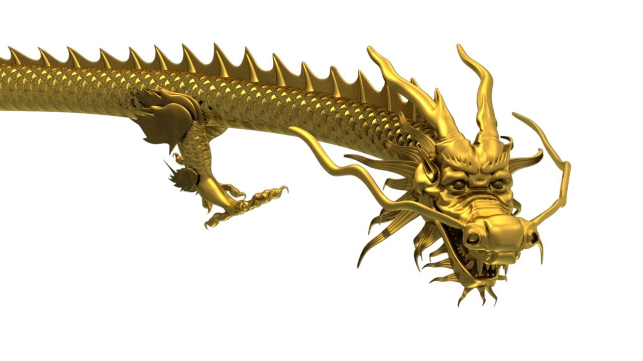 chinese dragon obj