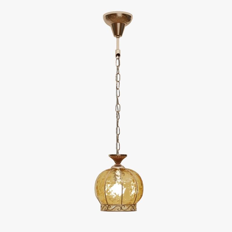 3d hanging lamp arte a2106sp-1ab model