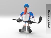 hockey bird 3d fbx