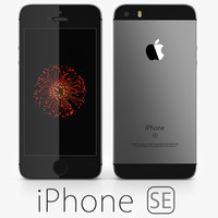 apple iphone se 3d obj