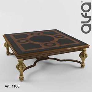 coffee table 1108 3d obj