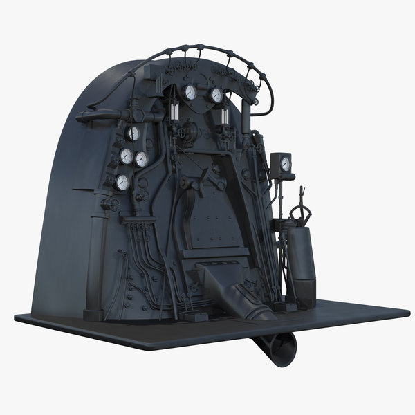 3d steam engine controls