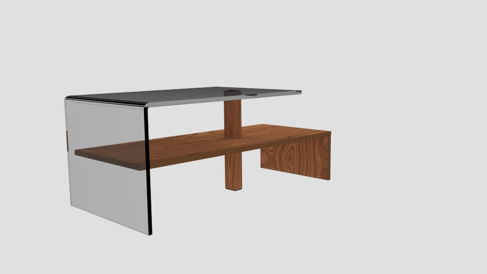 3d table couch model