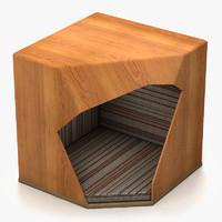 3d dog house modern model