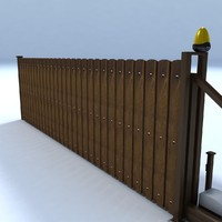 sliding gate wood plank 3d max