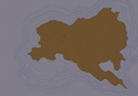 island sea terrain 3d model