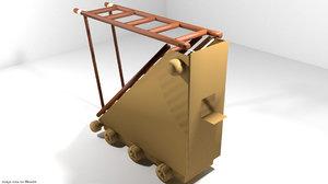 siege medieval ladder 3d obj