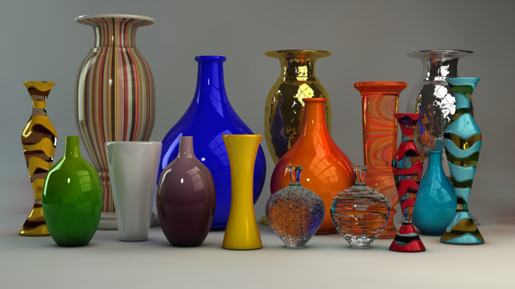 designer vases 3d model