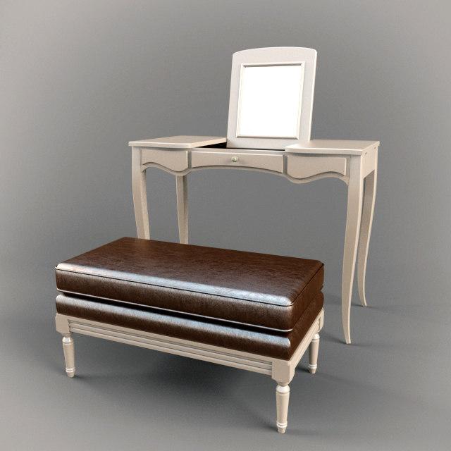 3d model salda bedroom set