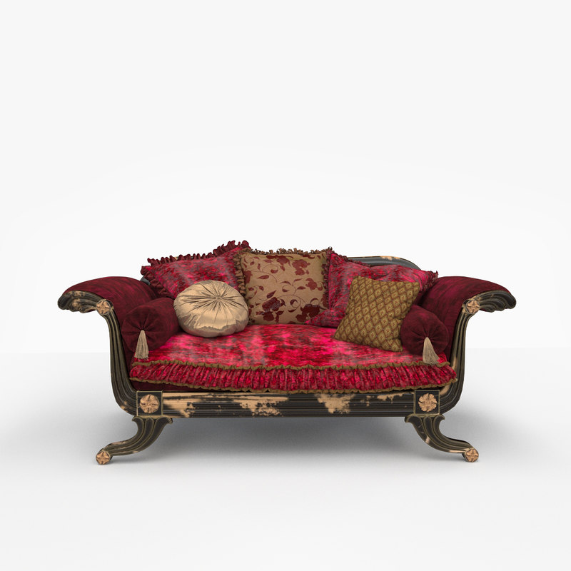 provasi sofa meridienne 122 3d model