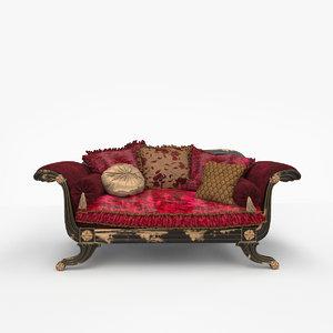 provasi sofa meridienne 122 3d model