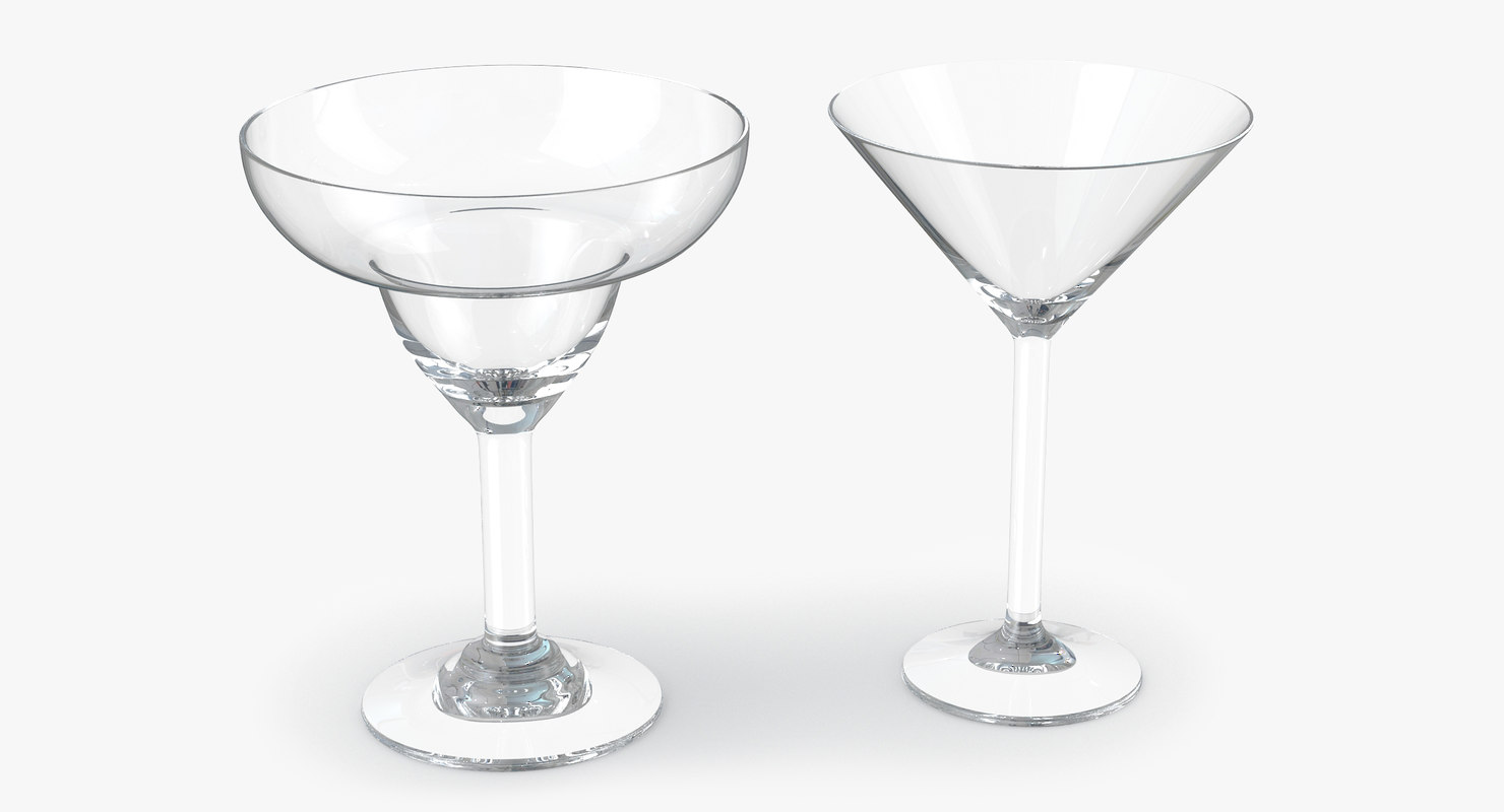 3d model glass martini margarita