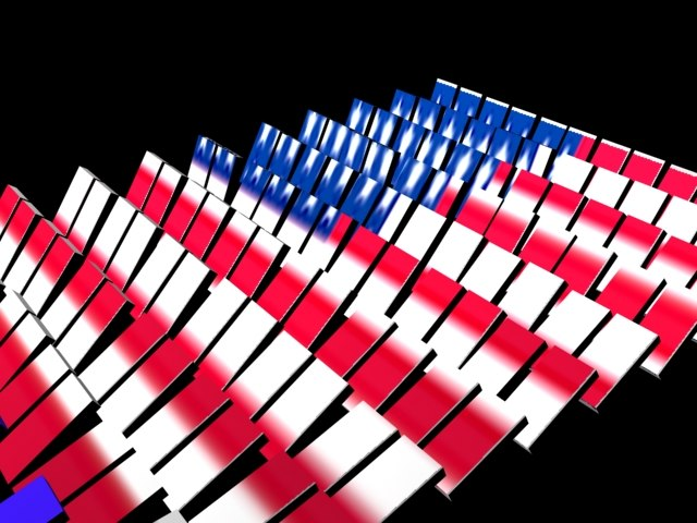 dominos american flag 3d max