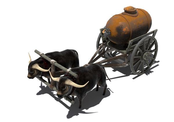 3d model buffaloes tank
