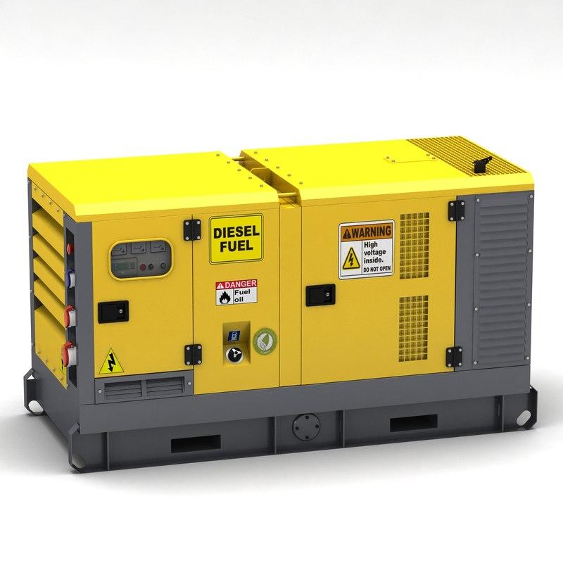 3d model of power generator