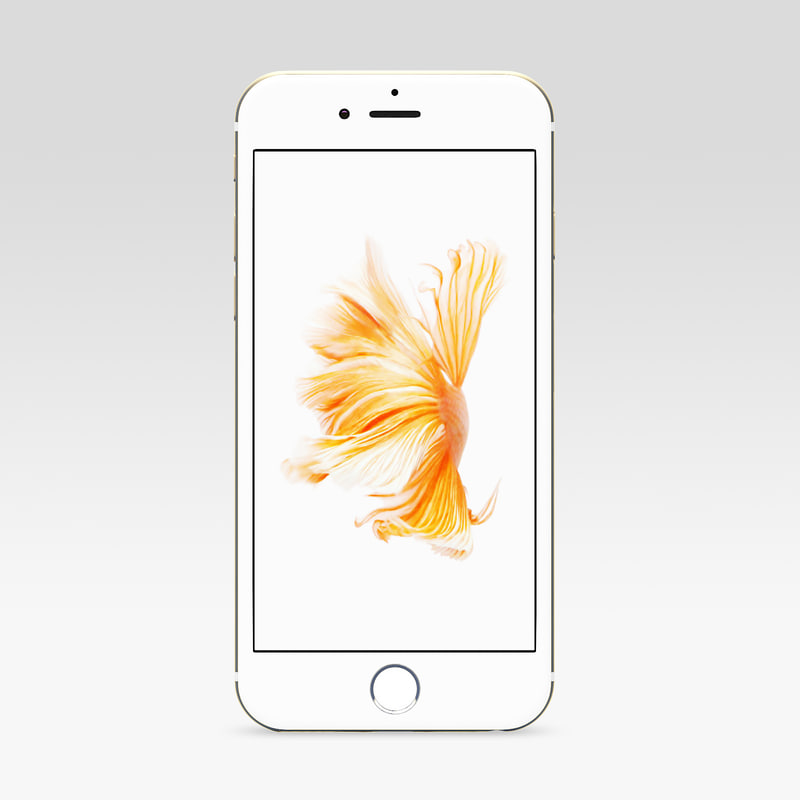 iphone 6s gold 3d fbx