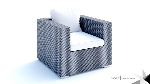 beliani wicker lounge set x