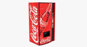 3d model cola vending machine