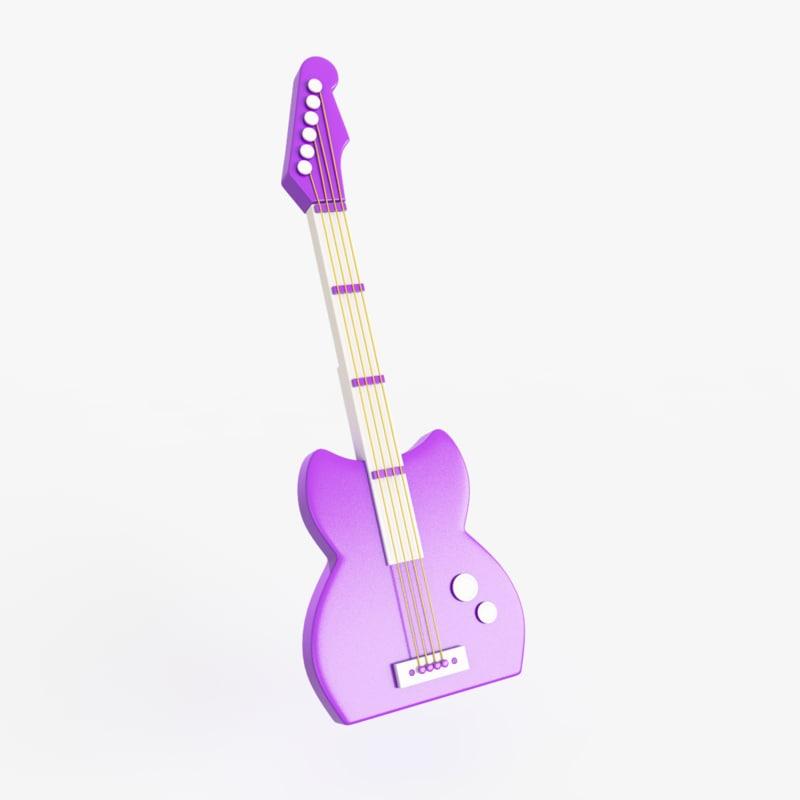 obj guitar toy