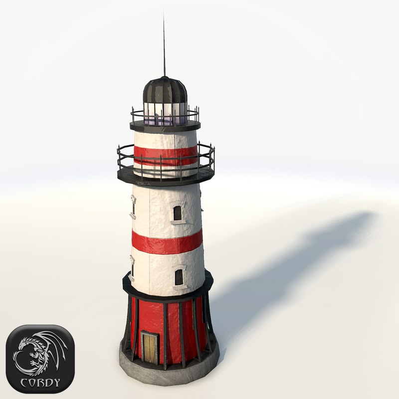 3d model light lighthouse